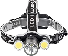 Hoofd Zaklamp LED Koplamp 6000 Lumen XML T6+2COB Oplaadbare Zaklamp Hoofd Lamp Zaklamp 18650 Batterij Camping Vissen Licht