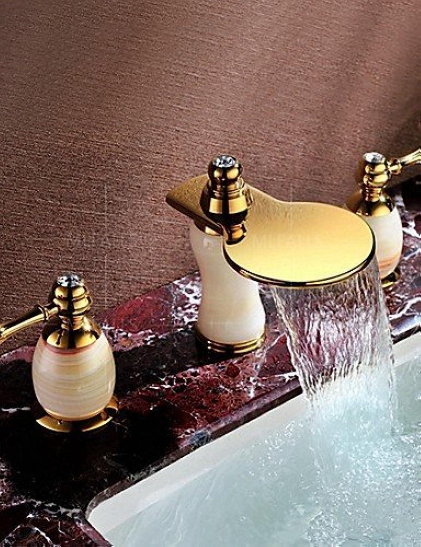 Marcu Home Weit verbreitet Zwei Griffe DREI Lcher inBadezimmer Waschbecken Wasserhahn Deck montiert