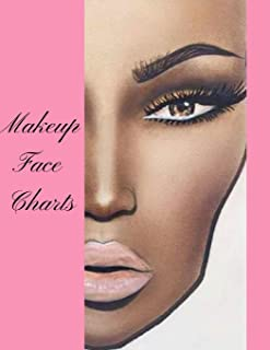 Makeup Face Charts: The Blank Portfolio Workbook Paper Practice Face Charts For Professional Makeup Artists