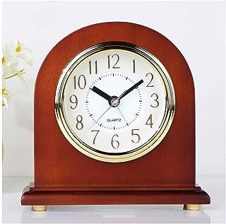 hongbanlemp Pendulettes de Bureau Horloge de Bureau en Bois Massif de Style européen Etude créative Ornements de la Table ...