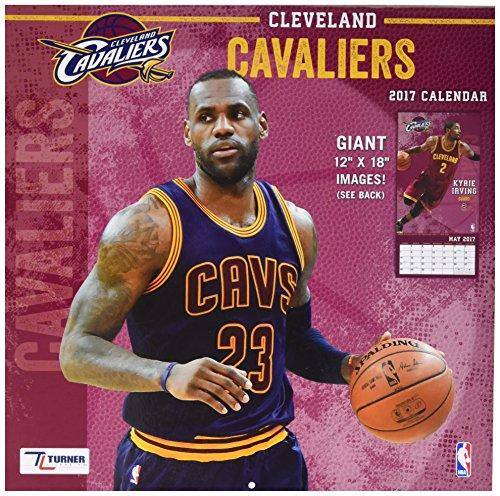 "Turner Licensing Sport 2017 Cleveland Cavaliers Team Wall Calendar, 12""X12"" (17998011874)"