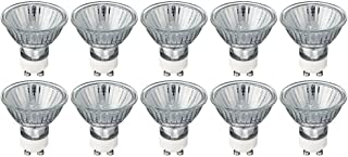 MR16/GU10 - Flood - GU10 Halogen Light Bulb (Twist & Lock) Base - 120V - MR16 Light Bulb MR16 (50 Watt, 10 Pack 50 Watt)