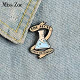 Focus sur la Science émail Broches personnalisé bécher bannière Broches épinglette Chemise Sac Badges Scientifique Bijoux Cadeau Chimie étudiant