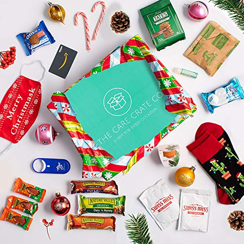 Christmas Care Package ( 20 Piece Variety Pack Snack Box and Gift Basket ) Holiday Treats, Xmas Food Arrangement, Hanukkah Present - Cookies, Hot Chocolate, Candy Canes, Holiday Gift Set