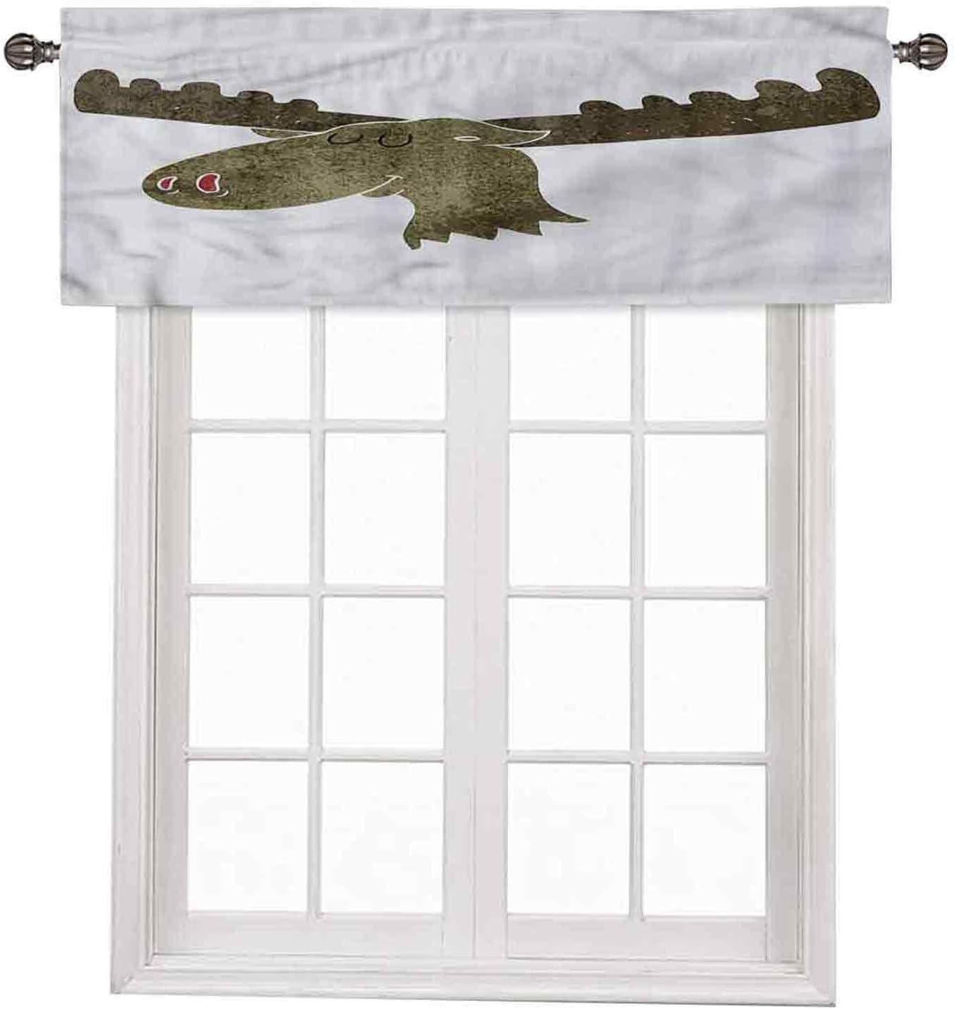 Moose Window Short Curtains Valances Portra Style Animal Super-cheap Max 82% OFF Nursery