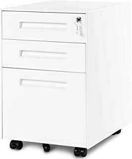 XHMCDZ Drawer Organizers Office Lateral File Cabinets Office Cabinets, Racks & Shelves 3 Drawer File Cabinet, Filing Pedes...