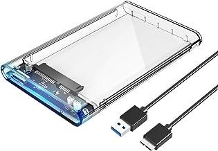 ORICO 2.5 USB 3 External Hard Drive Enclosure, USB3.0 to SATA Portable Clear Hard Disk..