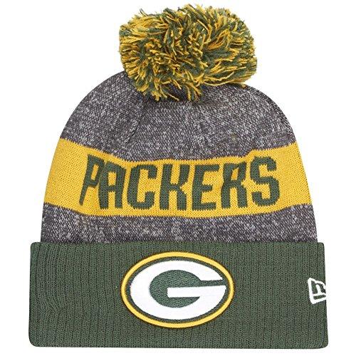 New Era NFL Sideline Bobble Knit Grepac OTC Gorra Línea Bay Packers...