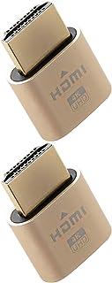 4K HDMI Dummy Plug - High Resolution Virtual Monitor Display Emulator, New Generation Headless Display Adapter Supports up to 3840x2160@60Hz, 1080@120Hz DVI EDID Emulator (2 Pack)