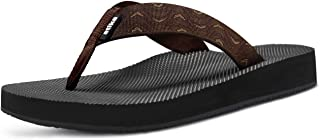 ATIKA Men's Sandals, Outdoor Comfortable Flip Flops Arch Support, Summer Beach Water Sandals, Thong Slippers with Cushion