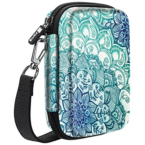 Fintie Carry Case for Polaroid Hi-Print/Polaroid Zip/HP Sprocket 2nd Edition Printer, Polaroid Snap/Snap Touch Instant Camera, HP Sprocket 2-in-1, Hard EVA Shockproof Storage Bag, Emerald Illusions