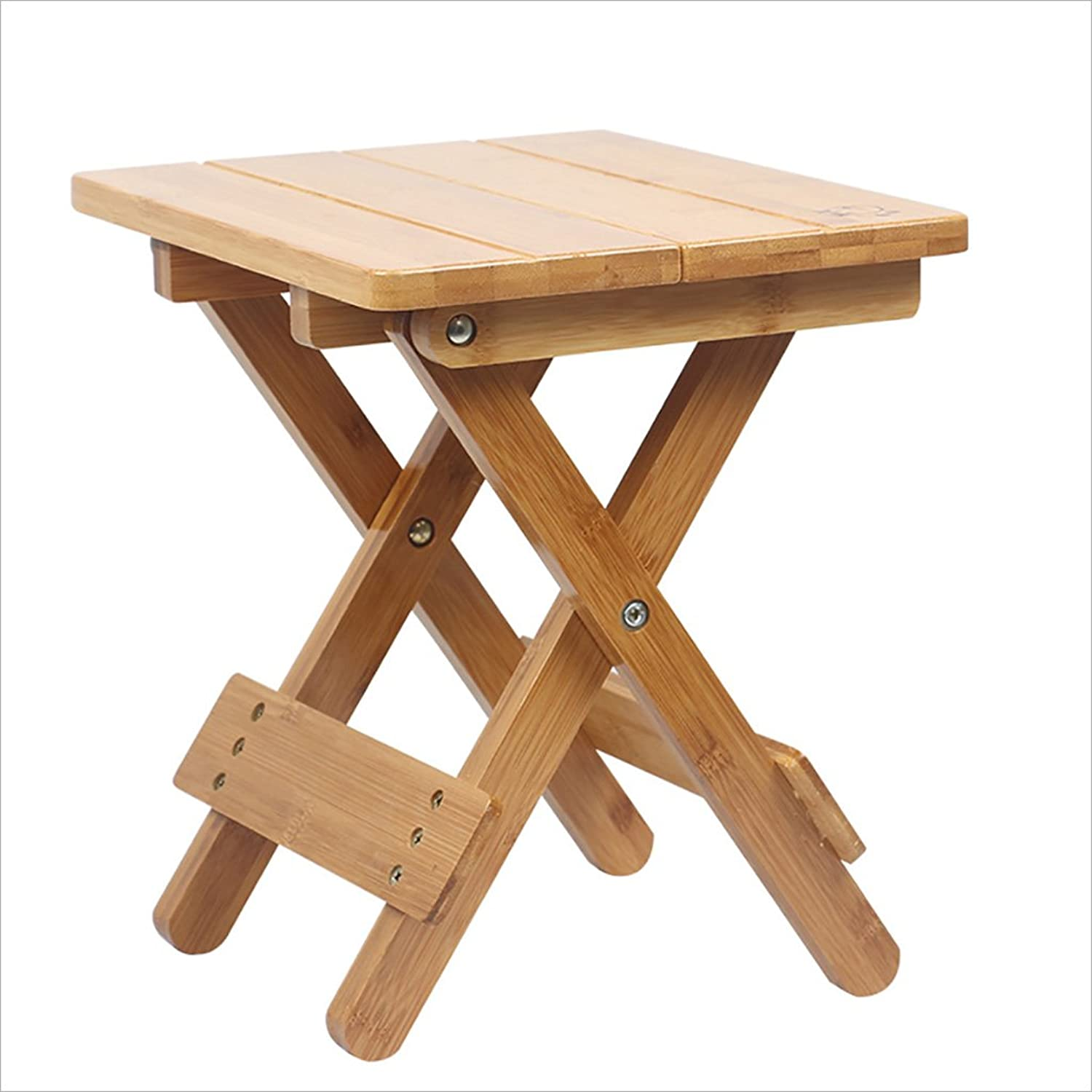Stool Chair European Stools Footstools Stools shoes Benches All-in-All Stool Bedroom Stools Creative Stool Bamboo (35  35  35CM) (color   B)
