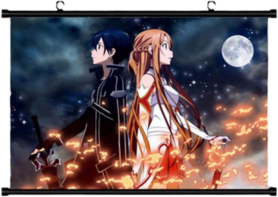 20*30CM SAO Anime Sword Art Online Wall Poster Scroll Home Decor Yuuki Asuna
