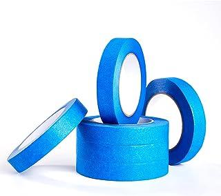 6 Rolls Blue Painters Tape, 0.94''×55 Yards, Blue Masking Tape Painter's Bulk Multi Pack,Painting Tape for Home,Office, DIY