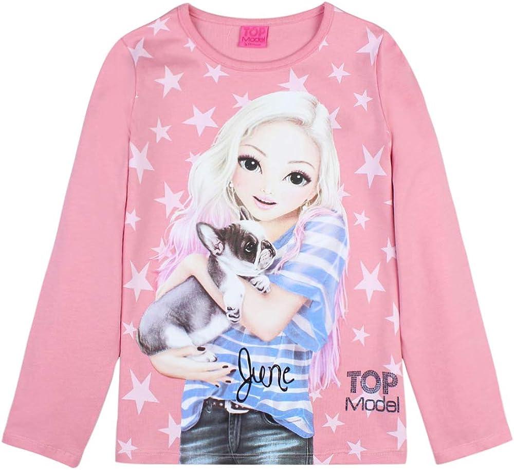 Rosa Top Model Ni/ña T-Shirt Manga Larga
