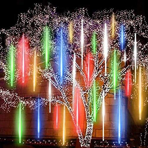 RH-ZTGY Meteor Luces LED Enchufe 500 La Caída De Las Nevadas Luces De Meteoros Ducha De Lluvia Luces 50Cm 10 Tubos De Conexión En Cascada De Luz para El Banquete De Boda del Jardín del Árbol De