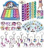 Unicorn Theme Party Favor For Kids-96Pcs Unicorn Tatoo-24Pcs Unicorn Stamper-27 Pcs Unicorn Rings Necklace...