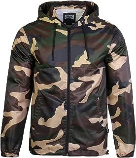Beautiful Giant Men's Lightweight Hooded Windbreaker Fashion Camo Outdoor Jacket S-3XL
