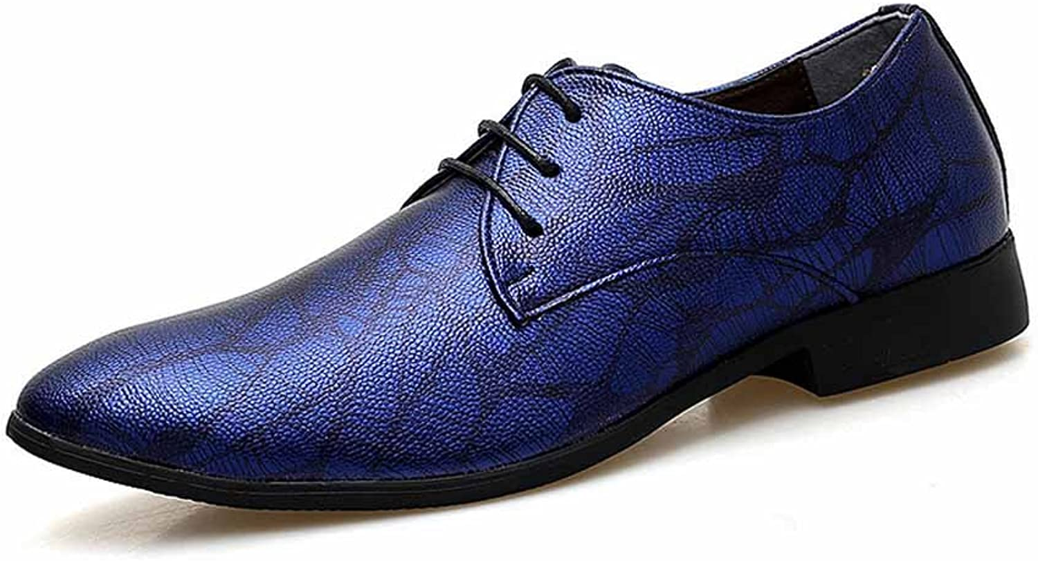 GLSHI Men Business Dress shoes New Lace Up Pointed Derby
