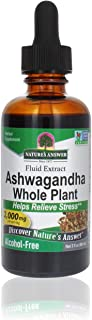 Nature's Answer Ashwagandha Root | Herbal Supplement Maintain Healthy Immune Function | Supports Body Against Stress | Glu...