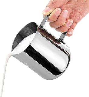iEay Pichet à Lait en Acier Inoxydable 100/150/200/350/600ml, Pot à Lait pour Cappuccino Expresso Milk Coffee Latte Art Ma...