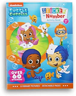 Activity Books Bubble Guppies Sticker by Numbers Book - Over 60 Stickers and 12 Vibrant Pictures to Fill in!