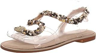 a59859dcd1f Alma en Pena - Sandalias de Vestir de Piel Lisa para Mujer