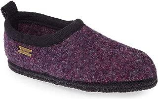 Haflinger Unisex Freddie Wool Closed Heel Slippers, Viola Speckle, 44EU