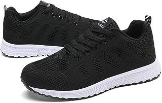 Youecci Zapatillas para Mujer Zapatos de Deportivos Ligeras Calzado Sneakers(EU 37, Negro)
