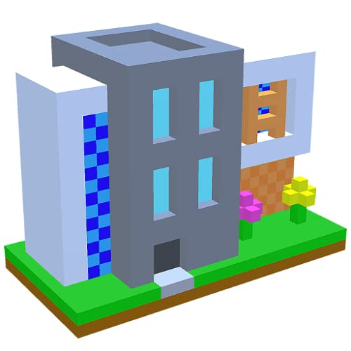 Modern House 3D Color By Number - Voxel Coloring Book