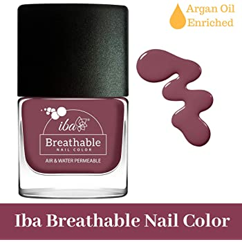 Iba Halal Care Breathable Nail Color, B06 Plum Cake, 9ml