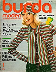 Burda Moden 01/1974 Die erste neue Frühlings-Mode
