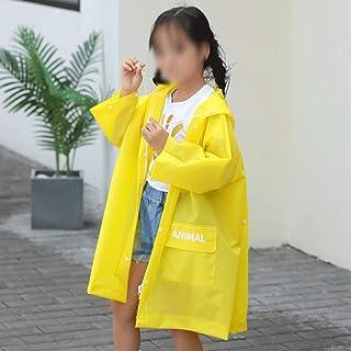 WZHZJ Cute Kids Raincoat Wateproof Children's Rain Poncho Rain Coat Jacket with Backpack Position (Size : Large)