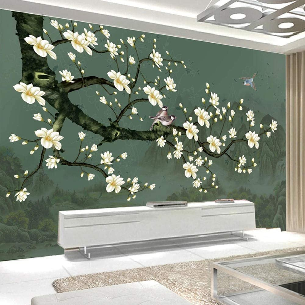 Msrahves Bargain Decor Wallcoverings Max 65% OFF Flowers Plants Style Birds Chinese