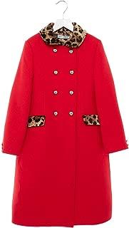 Luxury Fashion Girls L53C47FU2TSR0026 Red Coat | Fall Winter 19