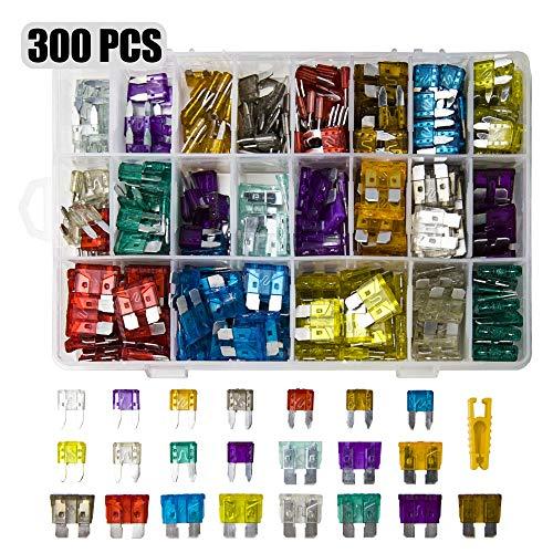 300 Stück Mini sicherungen Kfz,150+150 Stück Autosicherungen Set für Teile und Zubehör für Automobil, LKW, Geländewagen, Kombi
