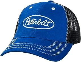 Peterbilt Trucks Dark Brown Bleached Washed Buck Deer Contrast Stitch Hat//Cap