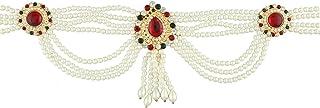 Anuradha Art Red-Green Colour Adorable Classy Traditional Kamar Patta/Kamarbandh Beily Chain for Women/Girls