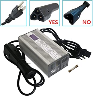 Abakoo 48V 6A RXV Golf Cart Battery Charger for Star Ez-Go Club Car DS EZgo TXT Yamaha with RXV Plug 3 Prong LED Display