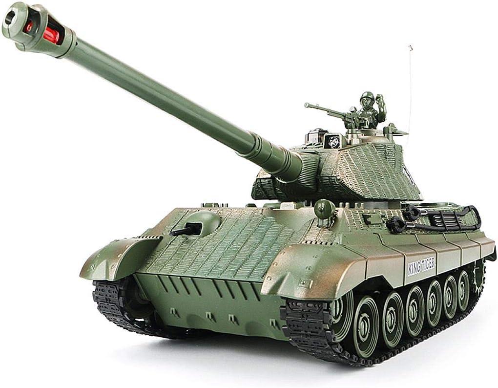 1:28 RC German King Tiger Heavy Finally popular brand Control Milit WW2 Remote Tank of shop