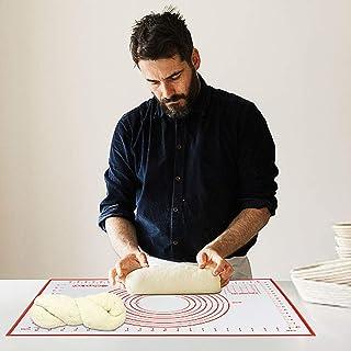 AYADA Tapis Patisserie, Grande Taille Tapis de Cuisson en Silicone, Tapis de Fondant pour Gâteau, Réutilisable Antiadhésif...