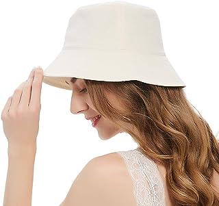 قبعات دلو للنساء، قبعة شمس للشاطئ والسفر في فصل الصيف، قبعة دلو للفتيات المراهقات بعامل حماية من أشعة الشمس 50+