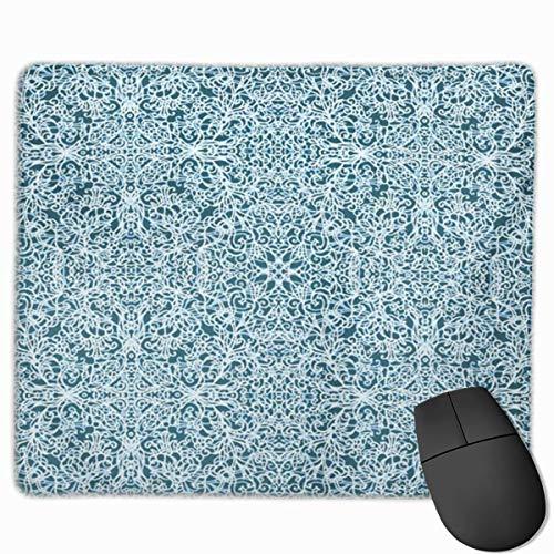 Nettes Gaming-Mauspad, Schreibtisch-Mauspad, kleines Mauspad für Laptop-Computer, Mausmatte Marokkanisches Schnürmuster Andalusien Asiatischer Teppich Chinesischer Damast