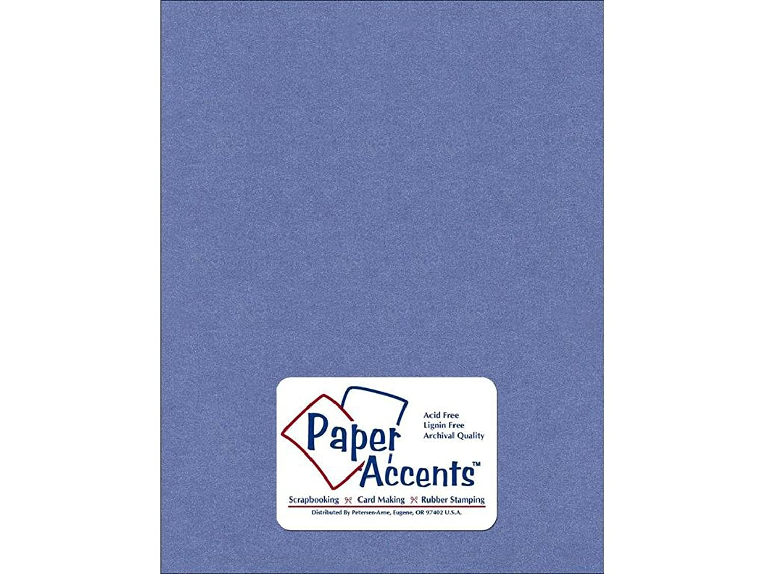 Accent Design Paper Accents PearlizedCdstk8511Blue Cdstk Pearlized 8.5x11 105# Blue Star