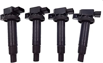 Ignition Coils 4 Pack for 2000-2010 Scion XA XB Yaris Toyota Echo Prius Camry L4 1.5L