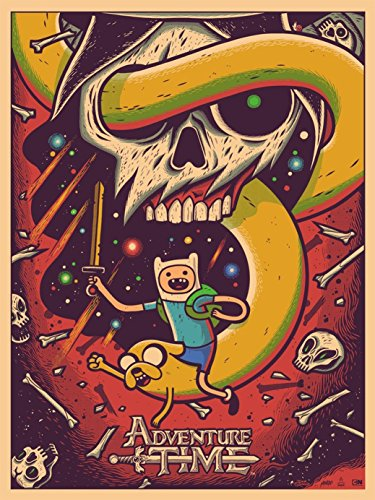 bribase shop Adventure Time with Finn and Jake Poster 17 inch x 13 inch