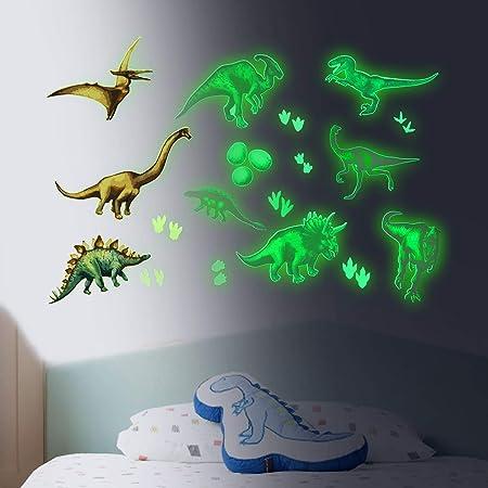 Pajaver Im Dunkeln leuchten Wandaufkleber 9 St/ück Dinosaurier Leuchtend Deckenaufkleber f/ür Kinder Schlafzimmer Kinderzimmer Zuhause Dekor