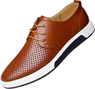 Men's Casual Oxford Shoes Dress Shoes Breathable Loafers Lace-up Flat Fashion Sneakers