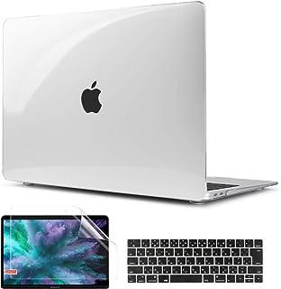 TwoL MacBook Pro 15 Touch Bar ケース クリア、3 in 1 超薄型軽量クリスタルハードケース New MacBook Pro Retina 15 2016/2017/2018/2019 (モデルA1707/A199...