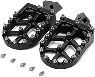 CNC Foot Pegs Footpegs Foot Rests Foot Pedals - Kawasaki KLR 650 1987-2005 For Honda XR50R XR70R XR80R XR100R 2000-2005